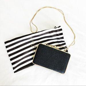 Black Caviar Henri Bendel gold chain purse